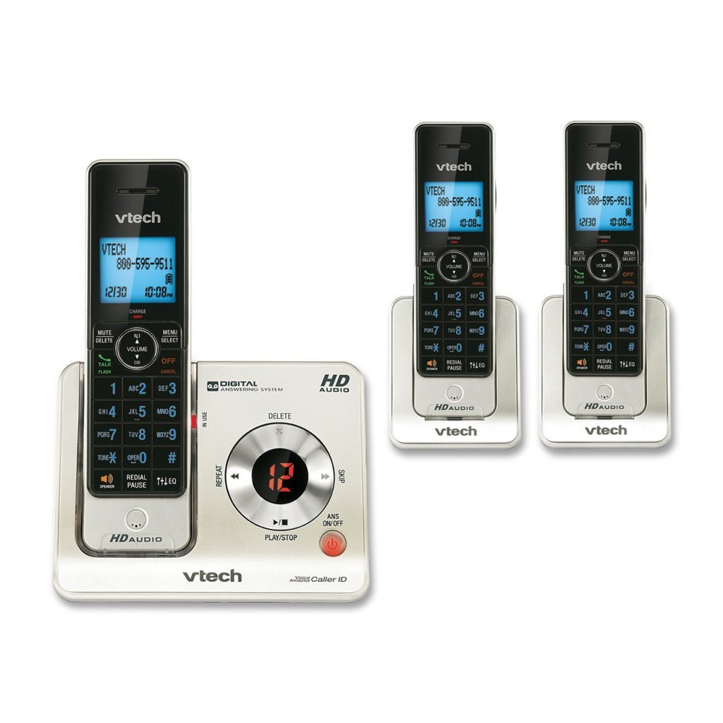 VTech LS6425-3 DECT 6.0 Expandable Cordless Phone with Answering System and