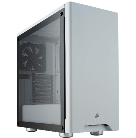 CORSAIR CARBIDE 275R Mid-Tower Gaming Case, Tempered Glass- White (CC-9011133-WW)