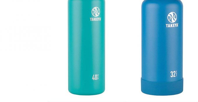 Takeya Actives Insulated Stainless Water Bottle with Insulated Spout Lid, 32oz, Lime