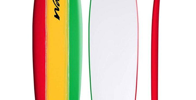 Wavestorm 8' Classic Longboard surfboard Tri Color 2 Pack