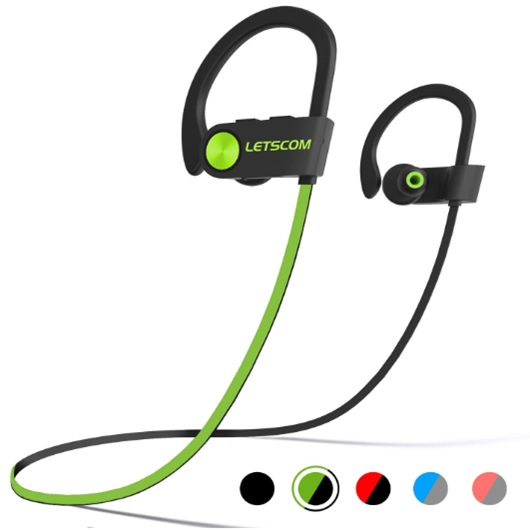 LETSCOM Bluetooth Headphones IPX7 Waterproof Wireless Sport Earphon