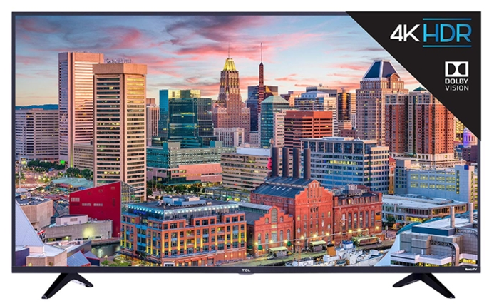 TCL 55S517 55-Inch 4K Ultra HD Roku Smart LED TV (2018 Model)_ Elect