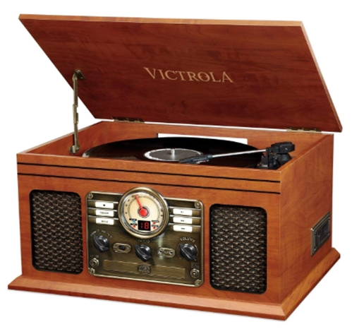 Victrola Nostalgic Classic Wood 6-in-1 Bluetooth Turntable Entertain