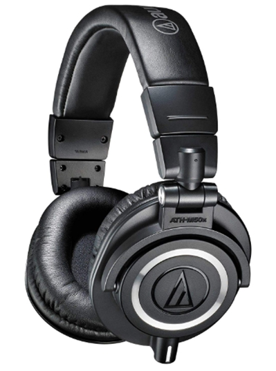 Audio-Technica ATH-M50x Professional Studio Monitor Headphones, Blac