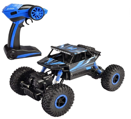 Hapinic RC Car with Two Battery 4WD 2.4Ghz 1_18 Crawlers Off Road Ve