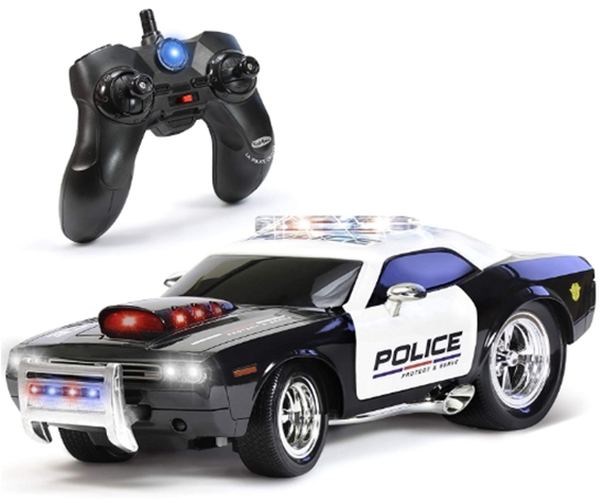 KidiRace RC Remote Control Police Car for Kids, Rechargeable, Durabl
