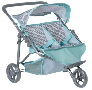 "Adora ""Zig Zag Twin Jogger Stroller"" Baby Doll Gender Neutral Toy Pl"