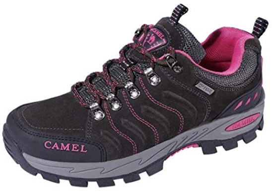 CAMEL CROWN Hiking Shoes for Women Breathable Trail Running Backpack