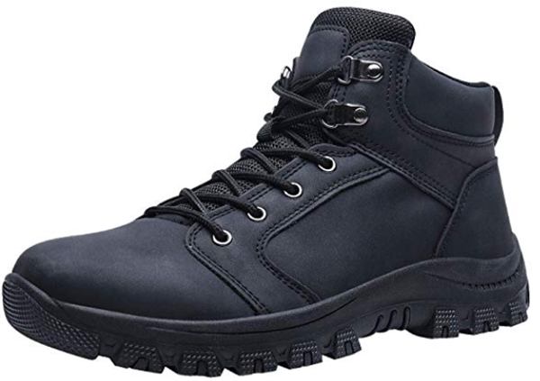 Caitin Men's Insulated Cold-Weather Boots Durable Hiking Boots_ Shoe