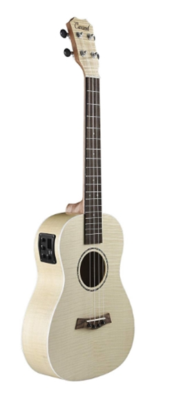 Caramel CB601 Flame Maple Baritone Acoustic Electric Ukulele with Tr