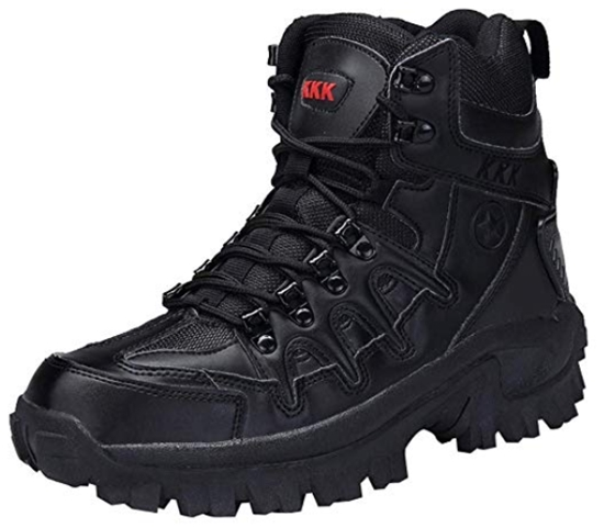 Dreamyth Men Hiking Boots Casual Lace-up Sport Army Tactical Boots D