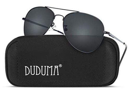 Duduma Premium Classic Aviator Sunglasses with Metal Frame Uv400 Pro