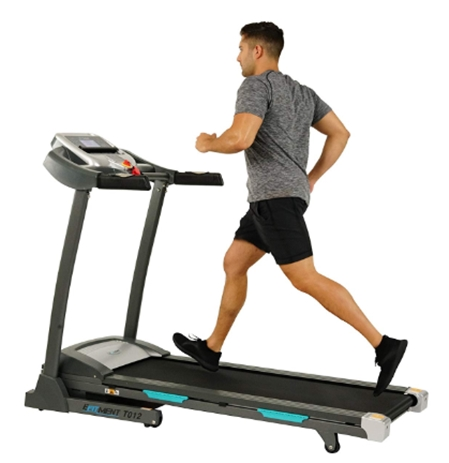 EFITMENT Auto Incline Bluetooth Motorized Treadmill w_Speakers & Fo