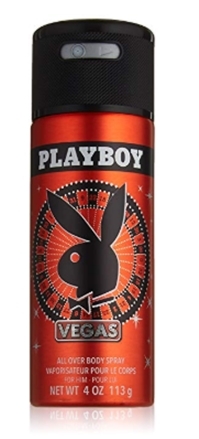 Playboy Male Body Spray, Vegas Scent, 4 oz., Long Lasting Body Spra