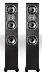Polk Audio TSi400 4-Way Tower Speakers with Three 5-1_4_ Drivers - P