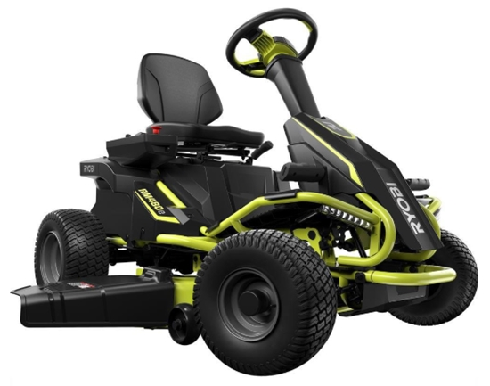 Ryobi 38_ Battery Electric Rear Engine Riding Lawn Mower RY48110 _