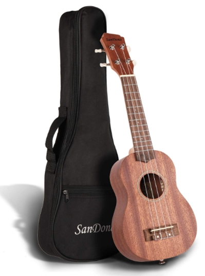SANDONA Soprano Ukulele Set 21'' Sapele UK-1 _ For Musicians Of All