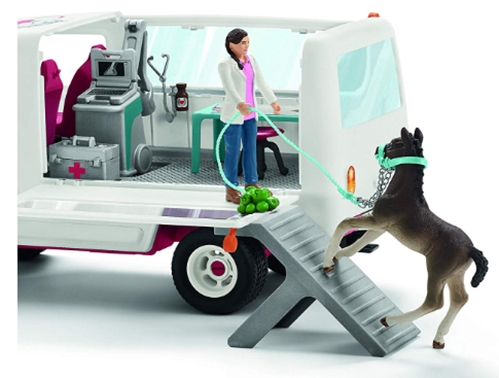 Schleich Horse Club Mobile Vet with Hanoverian Foal_ Schleich_ Toys