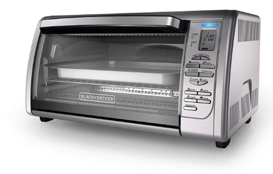 BLACK+DECKER Countertop Convection Toaster Oven, Silver, CTO6335S_ T