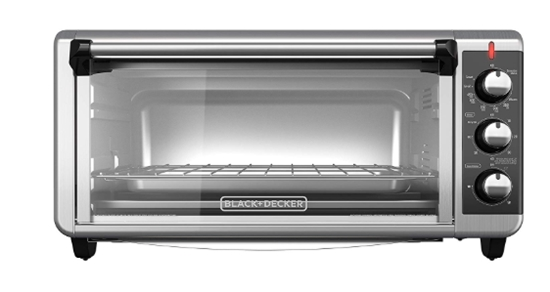 BLACK+DECKER TO3250XSB 8-Slice Extra Wide Convection Countertop Toas