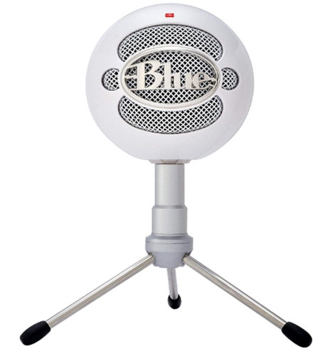 Blue Snowball iCE Condenser Microphone, Cardioid - White - 1974_ Mus