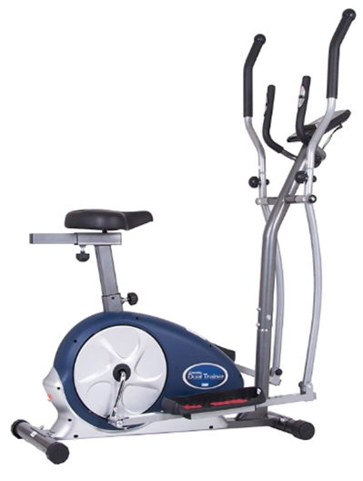 Body Champ 2 in 1 Cardio Dual Trainer_Elliptical Workout and Uprigh