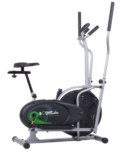Body Rider Elliptical Trainer and Exercise Bike with Seat and Easy
