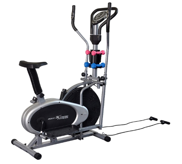 Body Xtreme Fitness 4-in-1 Elliptical Trainer Exercise Bike, Home G