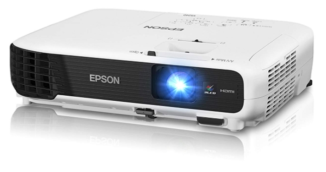 Epson VS240 SVGA 3LCD Projector 3000 Lumens Color Brightness_ Electr