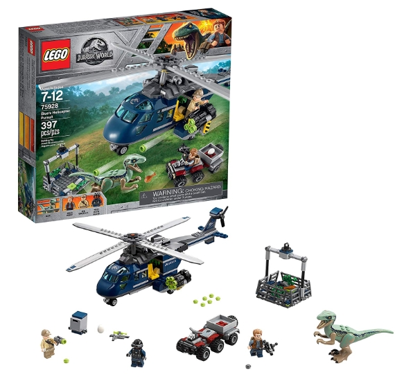 LEGO Jurassic World Blue's Helicopter Pursuit 75928 Building Kit (39