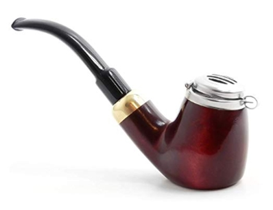 Mr. Brog Full Bent Smoking Tobacco Pipe - Model No_ 21 Old Army Maho