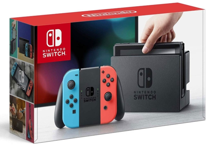 Nintendo Switch – Neon Red and Neon Blue Joy-Con_ Video Games