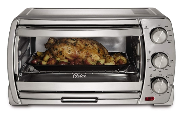 Oster Large Convection Toaster Oven, Brushed Chrome (TSSTTVSK01)_ To