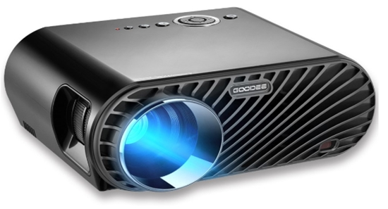 Projector, GooDee 3200 Lumens Video Projector 180_ HD LCD Movie Proj