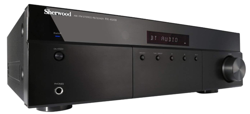 Sherwood RX4508 200W AM_FM Stereo Receiver with Bluetooth, Black_ SH