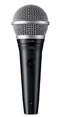 Shure PGA48-LC Cardioid Dynamic Vocal Microphone_ Musical Instrument