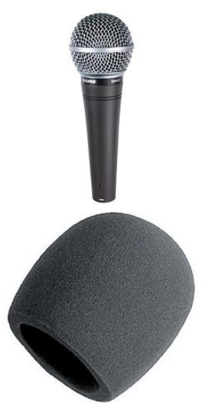 Shure SM48-LC Vocal Dynamic Microphone (Cardioid) with On Stage Foam