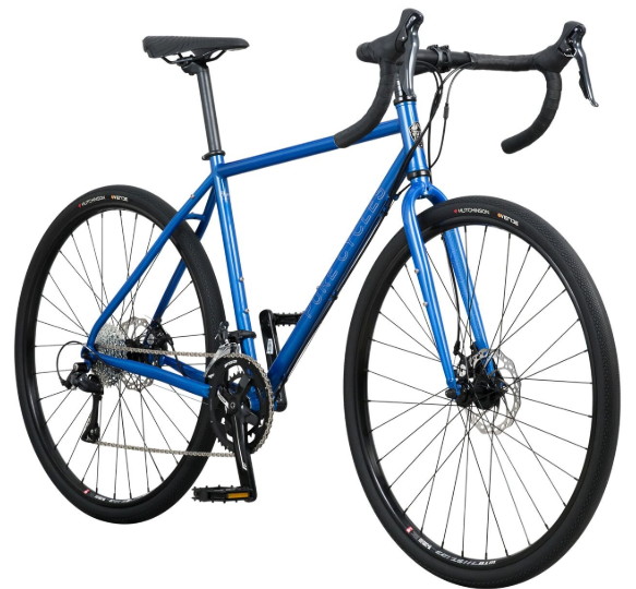 Pure Cycles Adventure Gravel Pro 18-Speed Disc Road Bike, 54cm_Larg