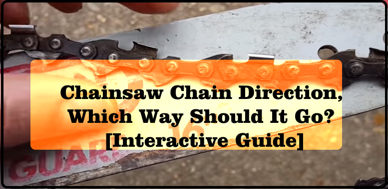 Chainsaw Chain Direction, Which Way Should It Go? [Interactive Guide]