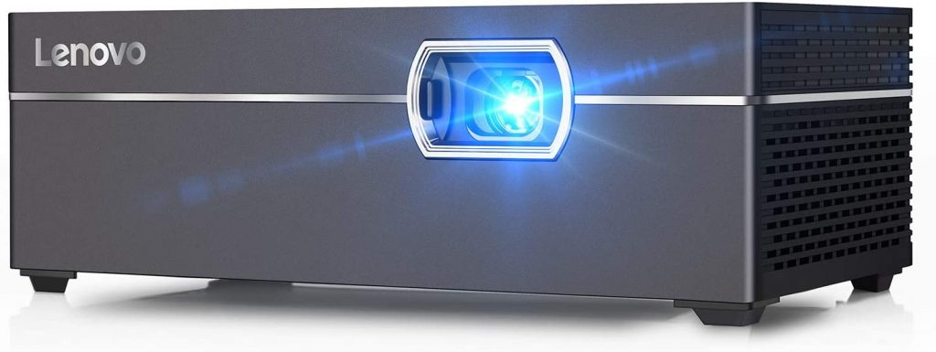 Lenovo M1 Smart Mini Projector, Pocket-Sized 200 ANSI Lumens Portable DLP Video Projectors with WiFi, 110 Inch Picture, Movie Projector, Intelligent Touch