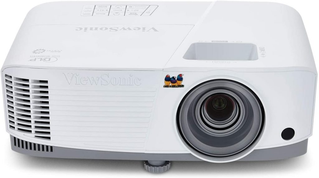ViewSonic 3800 Lumens SVGA High Brightness Projector for Home and Office with HDMI Vertical Keystone (PA503S) White/gray