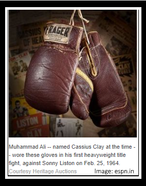 """The Greatest"""" Mohammad Ali Gloves  legendary American professional boxers"""